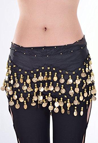 Dragonpad Black Belly Dance Skirt Hip Scarf