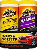 Armor All 10848 Protectant and Cleaning Wipe - 25 Sheets, (Pack of 2)