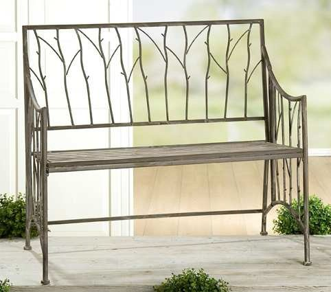 "Gartenbank ""Arbusto"" aus Metall Rusty Nostalgie bestellen"