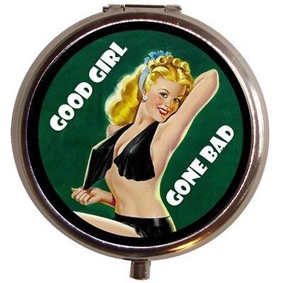 Good Girl Gone Bad Pin Up Humor Pill Box Pillbox Case