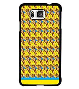 PrintDhaba Teddy Pattern D-1541 Back Case Cover for SAMSUNG GALAXY ALPHA (Multi-Coloured)