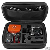 GoPro Case by CamKix® for GoPro Hero 1/2/3/3+ and Accessories - Ideal for Travel or Home Storage - Complete Protection for Your GoPro Camera - Microfiber Cleaning Cloth Included (Medium,Black)