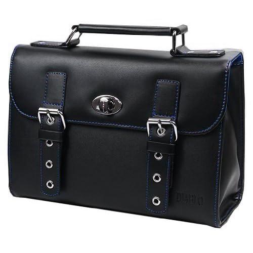 DIABLO セカンドバッグ(ビジネスバッグ) メンズ 牛革 KA-2092 【ブラック×ブルー】 [ウェア&シューズ]