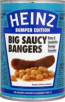 Heinz Big Saucy Bangers 415g von H.J.Heinz Co. Ltd, UB4 8AL, UK bei Gewürze Shop
