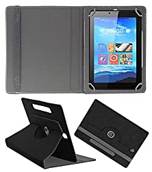 Acm Designer Rotating Case For Smart Tab Sq718 Stand Cover Black