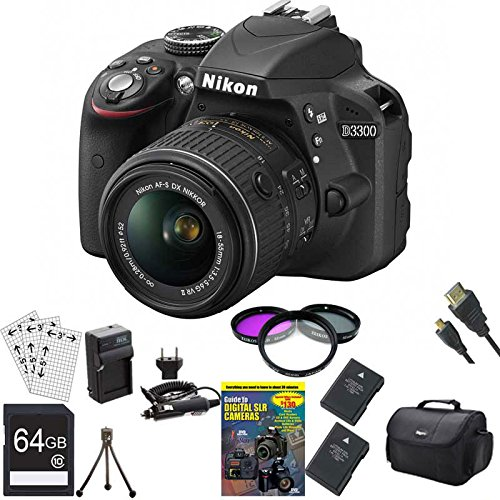 New Nikon D3300 24.2 MP CMOS Digital SLR Camera Bundle with AF-S DX NIKKOR 18-55mm f/3.5-5.6G VR II ...