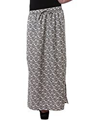 Purys Women's A-line Skirt (RE5008_White black_M)