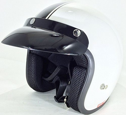 Viper RS-04 Cruise Motorcycle Scooter Tourin Open Face Helmet M Gloss White