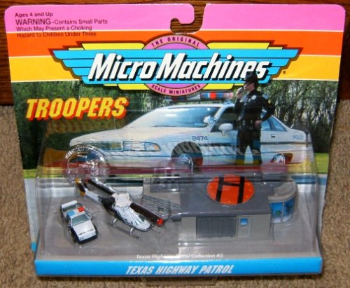 Texas Highway Patrol Micro Machines Troopers Set #3 (Walker Texas Ranger Truck compare prices)