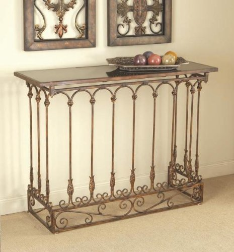 Cheap 43″ Iron Cast/Marble Rectangular Foyer Console Table (B0029KPAPO)