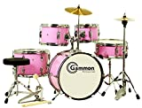 New Pink Junior 5-Piece Drum Set with Cymbals Stands Sticks Hardware Complete