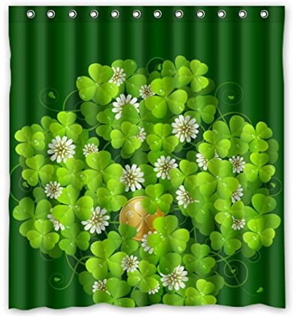 Standard-Store Custom Happy St.Patrick's Day Waterproof Fabric Polyester Shower Curtain 66