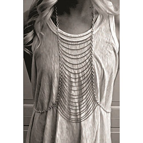 JoJo&Lin Body Chain Jewelry Silver Body Harness