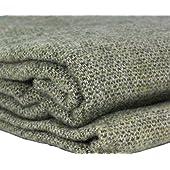Irish Wool Blanket Lichen Green Made in Ireland