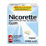 Nicorette Stop Smoking Aid, 4 mg, Gum, Original 110 pieces