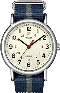 Timex Men's Weekender Central Park Slip Through Strap Black T2N654GP