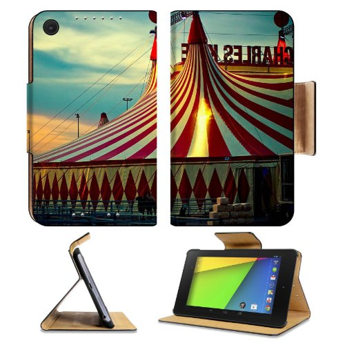Circus Tent Sunset Sky Fun Times Asus Google Nexus 7 Fhd Ii 2Nd Generation Flip Case Stand Magnetic Cover Open Ports Customized Made To Order Support Ready Premium Deluxe Pu Leather 8 1/4 Inch (210Mm) X 5 1/2 Inch (120Mm) X 11/16 Inch (17Mm) Msd Nexus 7 P front-217676