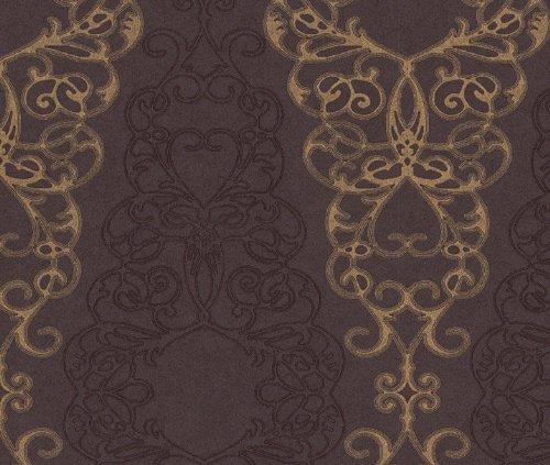 tapete barock rasch tapete barock new simplicity 774023 braun. Black Bedroom Furniture Sets. Home Design Ideas