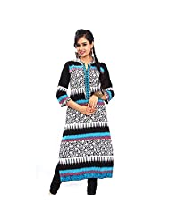Rama's Women Cotton Multi Coloured Kurti Hand Work - B00Q6U9RRU