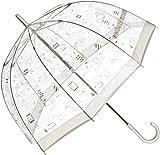 (ムーンバット)MOONBAT フルトン 婦人ビニール長傘 バードケージ 切手柄 21-152-54120-00 90-65 シルバー 65cm