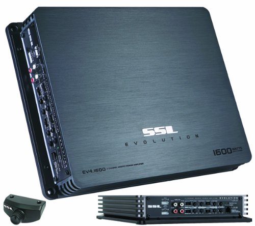 Ssl Ev4.1600 Evolution 1600-Watts Full Range Class A/B 4 Channel 2-8 Ohm Stable Amplifier With Remote Subwoofer Level Control