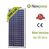 30w Watts Newpowa 12v Poly Solar Panel Module Rv Marine Boat Off Grid
