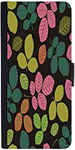 Snoogg Seamless Pattern With Leaf Designer Protective Phone Flip Case Cover For Samsung Galaxy J2