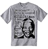 Nelson Mandela Do Not Judge Quote - Graphic Grey T-Shirt