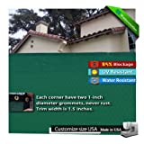 6x50 Green Fence Windscreen & Privacy Screen & Fabric Mesh w/ Brass Grommets