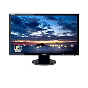 ASUS VE247H 24 inch LED Widescreen Full HD 1080p Support with HDMI 2ms Response Time Splendid? Video Intelligence Technology