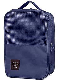 Glive's Travel Organizer Two Layer Waterproof Travelling Shoe Storage Bag Footwear Organiser Pouch