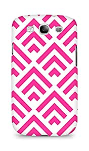 Amez designer printed 3d premium high quality back case cover for Samsung Galaxy S3 i9300 (pink arrow pattern )