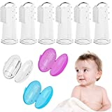 Baby Toothbrush, Bassion 6 Pack Food Grade Silicone Finger Toothbrush for Baby & Toddlers, Toothbrush Teether and Oral Massager