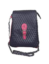 Bagizaa Purple Designer sling Bag with Metal Chain