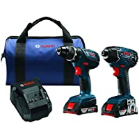 Bosch CLPK232A-181 18V Lithium-Ion Cordless Two Tool Combo Kit (Blue)