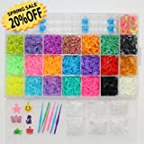RAINBOW ORGANIZER LOOM KIT WITH 5500 RUBBER BANDS REFILL. THE ONLY KIT WITH 22 TRUE SPECIALTY COLORS! SILVER, GOLD, METALLIC, TIE DYES, GLOW IN THE DARKS AND MORE. MONEY BACK GUARANTEED