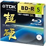 TDK Blu-ray BD-R Disk for PC Data Super Hard Coating Surface 50GB (DL) 4x Speed 5 Pack (japan import)