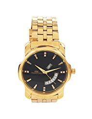 Frankford Fashion Analogue Black Dial Men's Watch-GC-5 GOLD SMILE DDT