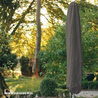 Videx-Gartenmöbel Schutzhaube für Sonnenschirm, taupe, Ø 35cm, Höhe 140cm