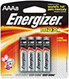 Energizer E92MP-Energizer Max AAA Batteries (8-Pack), Black