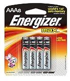 Energizer Max Alkaline AAA, 8-Count