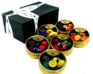 Cavendish & Harvey 6-Flavor Drops Variety, 5.3 oz Tins in a Gift Box (Pack of 6)