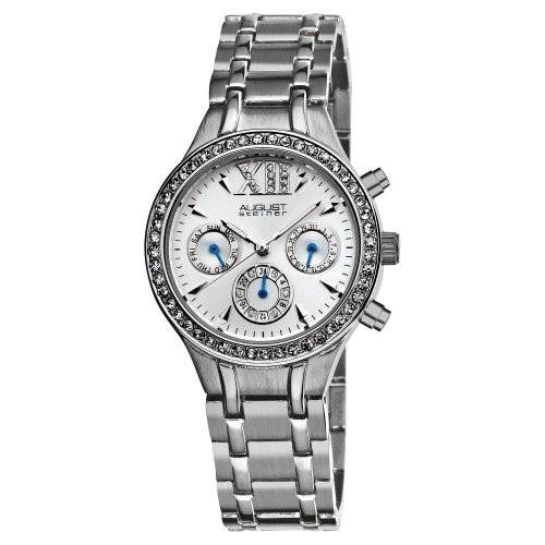 August Steiner Women's ASA840SS Crystal Multifunction Bracelet Watch