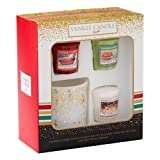 Image of Yankee Candle 3 Votive and 1 Votive Holder Holiday Party Gift Set