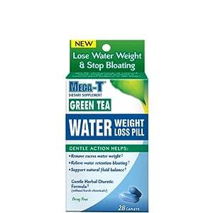 Mega-t Water Weight Loss Pill Green Tea Caplets 28 Ct from CCA Industries, Inc.