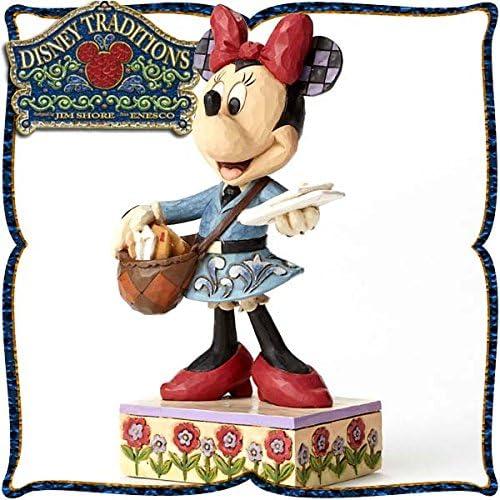 디즈니・tradition 『Postal Carrier Minnie』 우편 배달원의 미니 마우스 레진제 목각조 피규어-