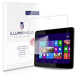 iLLumiShield - HP Omni 10 Screen Protector Japanese Ultra Clear HD Film with Anti-Bubble and Anti-Fingerprint - High Quality (Invisible) LCD Shield - Lifetime Replacement Warranty - [2-Pack]