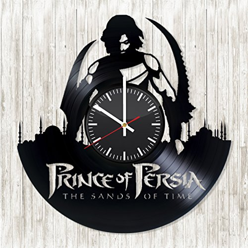 [Prince of Persia Sands of Time HANDMADE Vinyl Wall Clock - Get unique living room wall decor - Gift ideas for friend - Adventure Movie Unique Art Design - Leave us a feedback and win your custom] (Prince Of Persia Forgotten Sands Costumes)