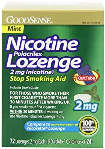 Good Sense Nicotine Lozenge, 2mg (nicotine), Mint, 72-count, 3x24p