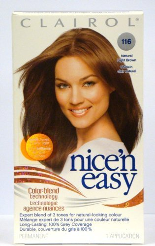 Clairol Nice 'N Easy Color #116 Natural Light Brown